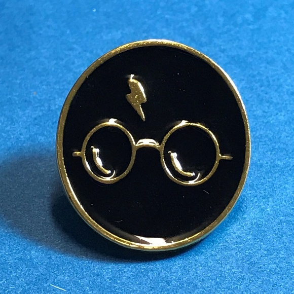 Harry Potter Gold Tone Enamel Pin Backpack Pin
